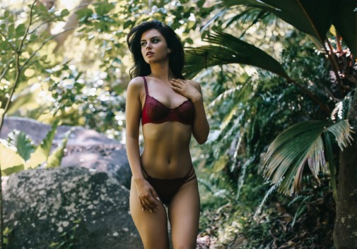 femme-brune-sexy-lingerie-nature